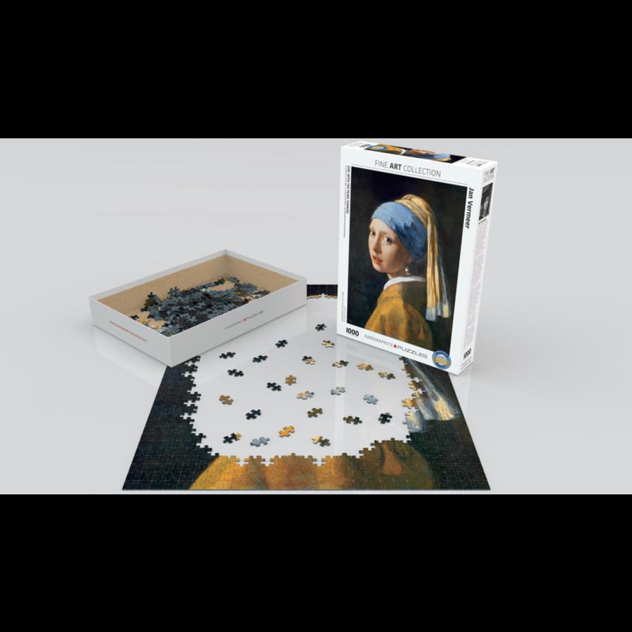 Vermeer - Het meisje met de parel - puzzel van 1000 stukjes-2