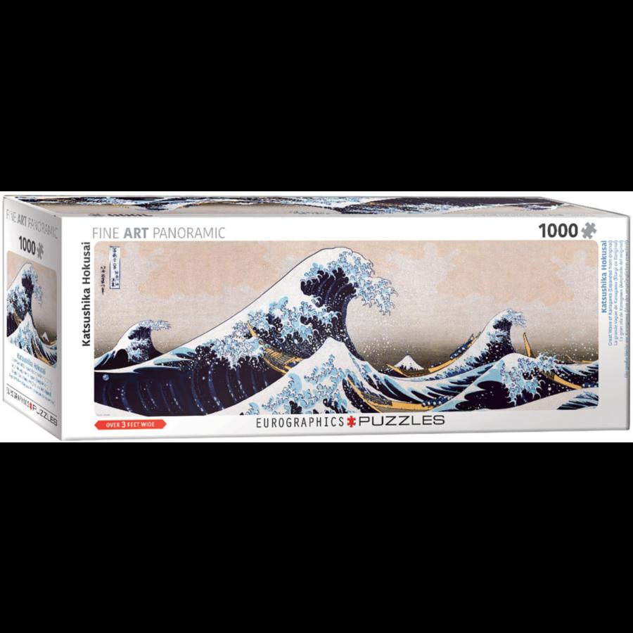 Hokusai - De grote golf- puzzel van 1000 stukjes-1