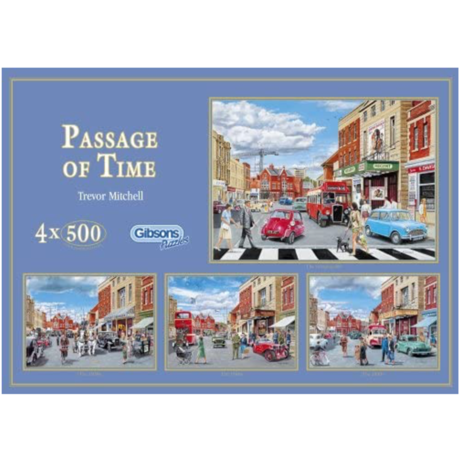 Passage of time - 4 puzzles of 500 pieces-1