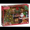 Falcon De kerstman bij de open haard - puzzel van 500 stukjes