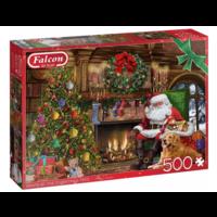 thumb-De kerstman bij de open haard - puzzel van 500 stukjes-1