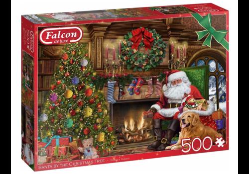 Falcon De kerstman bij de open haard - 500 stukjes