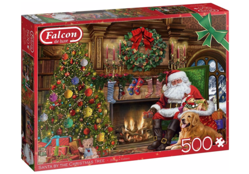 Falcon Le Père Noël près de la cheminée - 500 pièces
