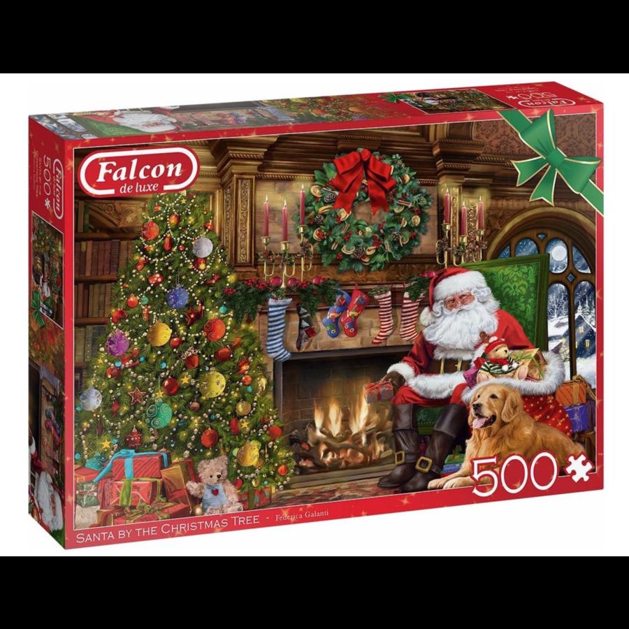 De kerstman bij de open haard - puzzel van 500 stukjes-1
