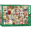 Eurographics Puzzles Vintage Christmas Cards - 1000 pieces - jigsaw puzzle