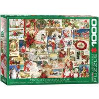 Vintage Christmas Cards - 1000 pieces - jigsaw puzzle