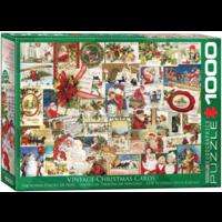 Vintage Kerstkaarten - puzzel van 1000 stukjes