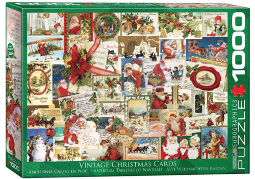 Eurographics Puzzles Vintage Christmas Cards - 1000 pieces