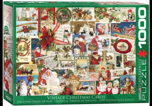 Eurographics Puzzles Vintage Kerstkaarten - 1000 stukjes