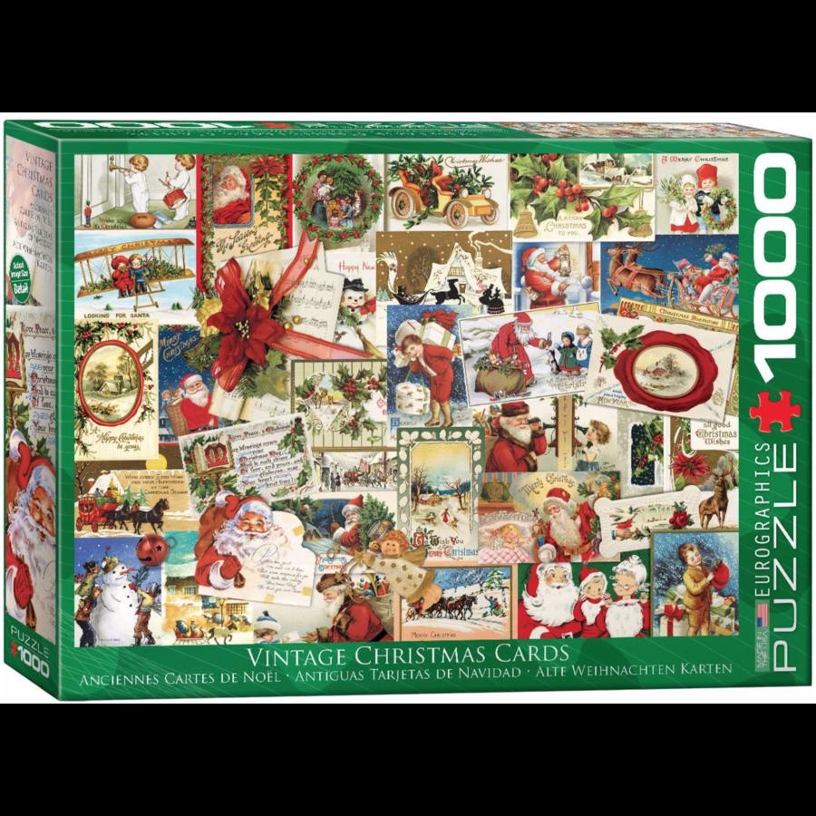 Vintage Kerstkaarten - puzzel van 1000 stukjes-1