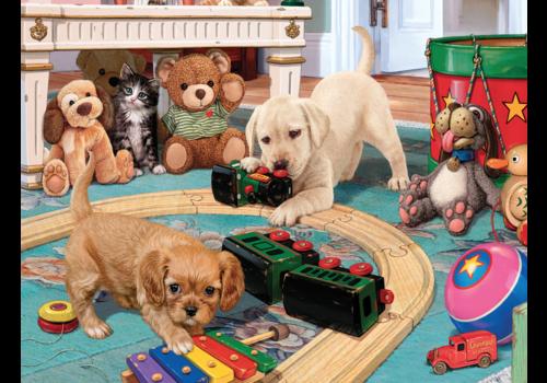 Speeltijd voor de puppies - 300 XXL stukjes