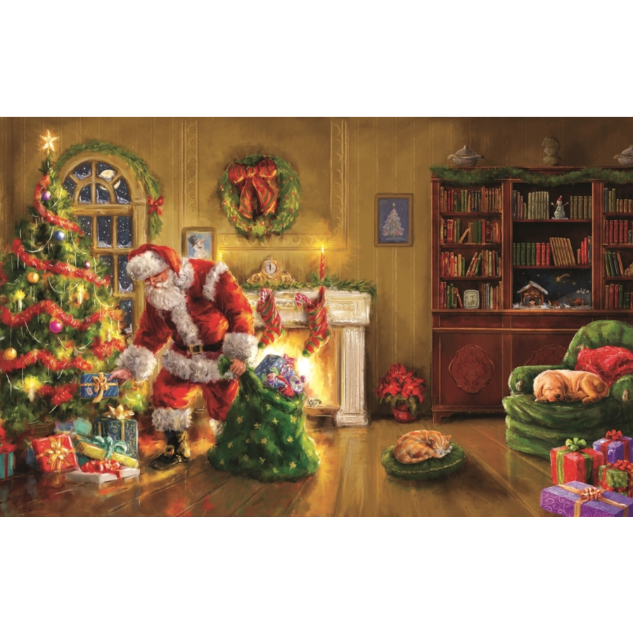 Speciale levering van de Kerstman - legpuzzel van 550 XXL stukjes-1