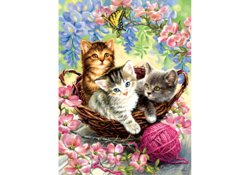 Kittens and Flowers - 500 XL pieces