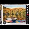 Eurographics Puzzles Cottage aan het meer - Quebec - puzzel van 1000 stukjes