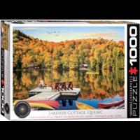 Lakeside Cottage - Quebec - 1000 pieces - jigsaw puzzle