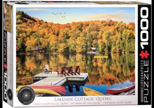 Eurographics Puzzles Cottage aan het meer - Quebec  - 1000 stukjes