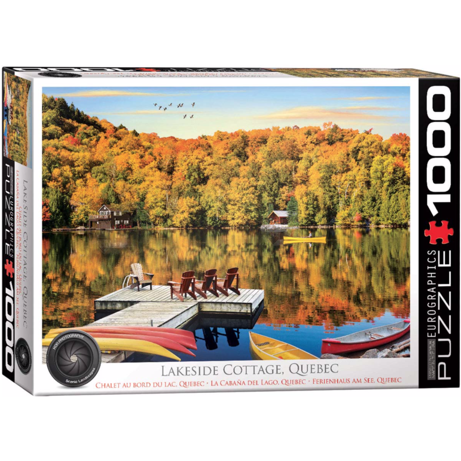 Chalet au bord du lac - Québec - puzzle de 1000 pièces-1