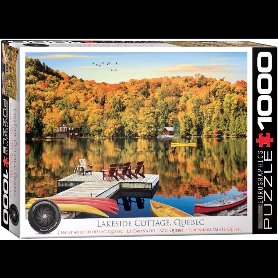 Lakeside Cottage - Quebec - 1000 pieces - jigsaw puzzle-1