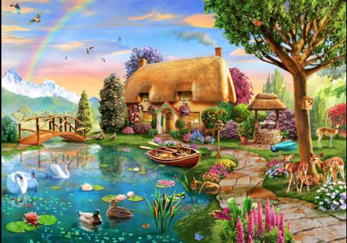 Cottage aan het meer - 6000 stukjes