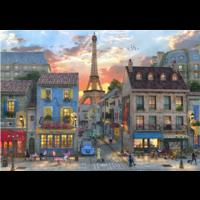 thumb-Les rues de Paris - puzzle de 1000 pièces-1