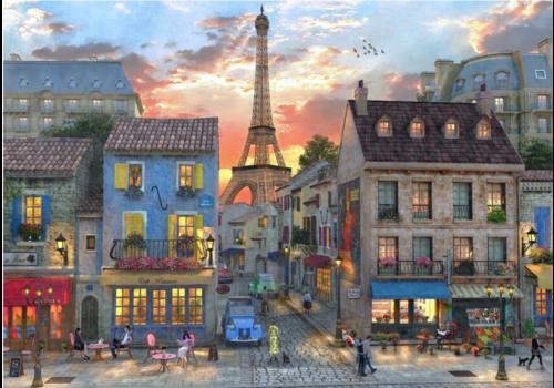 De straten van Parijs - 1000 stukjes
