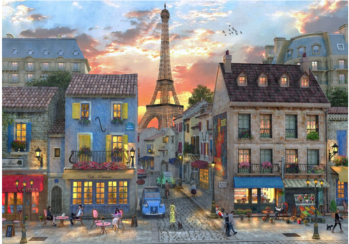 Bluebird Puzzle Les rues de Paris - 1000 pièces