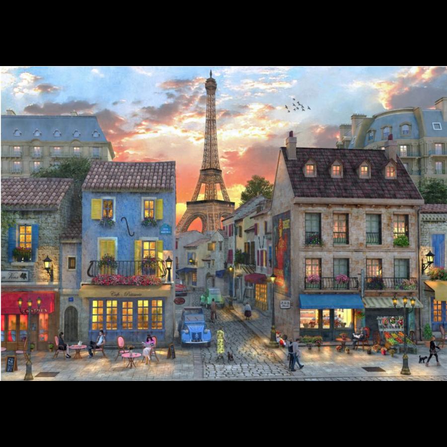 Les rues de Paris - puzzle de 1000 pièces-1