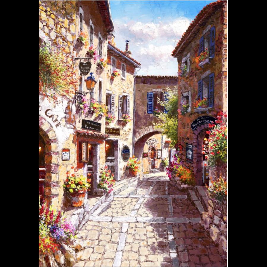 Les rues de Eze - puzzle de 1000 pièces-1