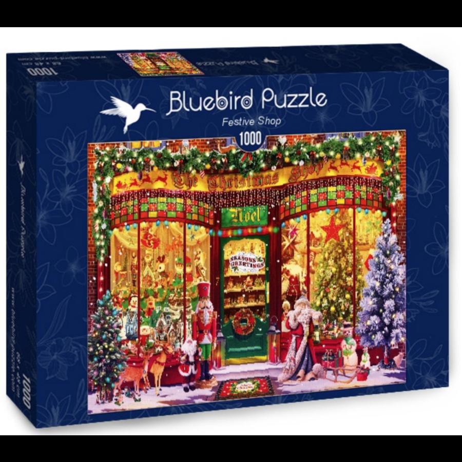 Le magasin de Noël - puzzle de 1000 pièces-1