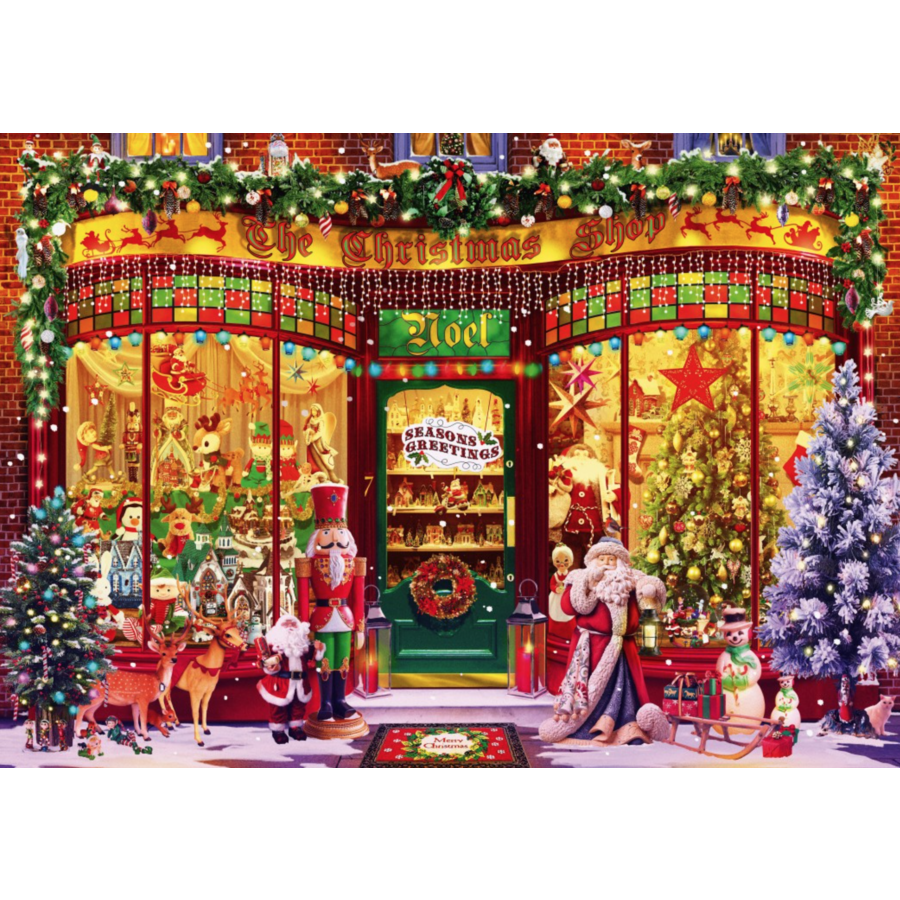 Le magasin de Noël - puzzle de 1000 pièces-2