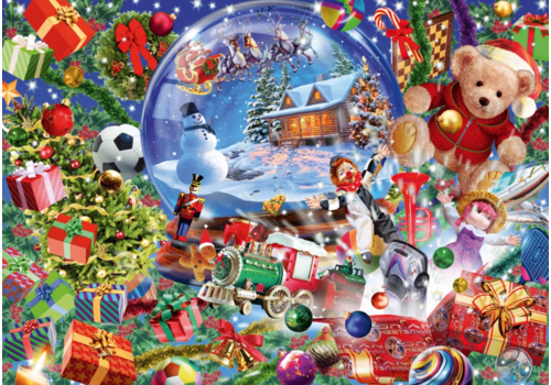 Bluebird Puzzle Christmas Globe - 1000 pieces