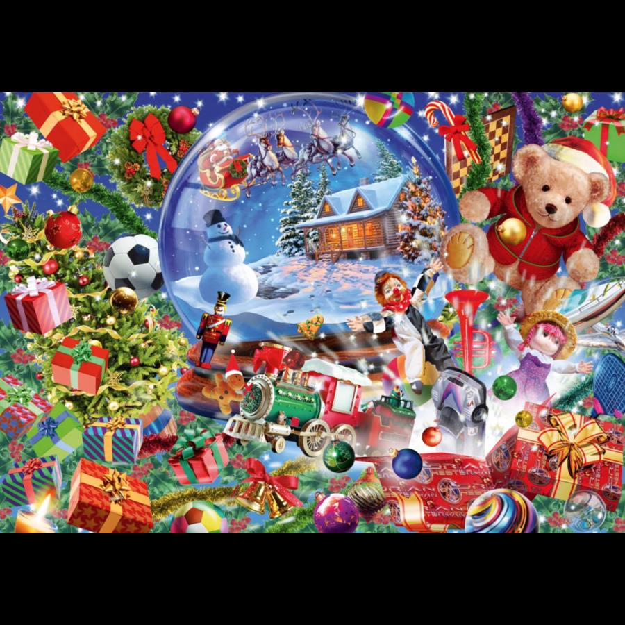 De sneeuwbol in kerstsfeer - puzzel van 1000 stukjes-1