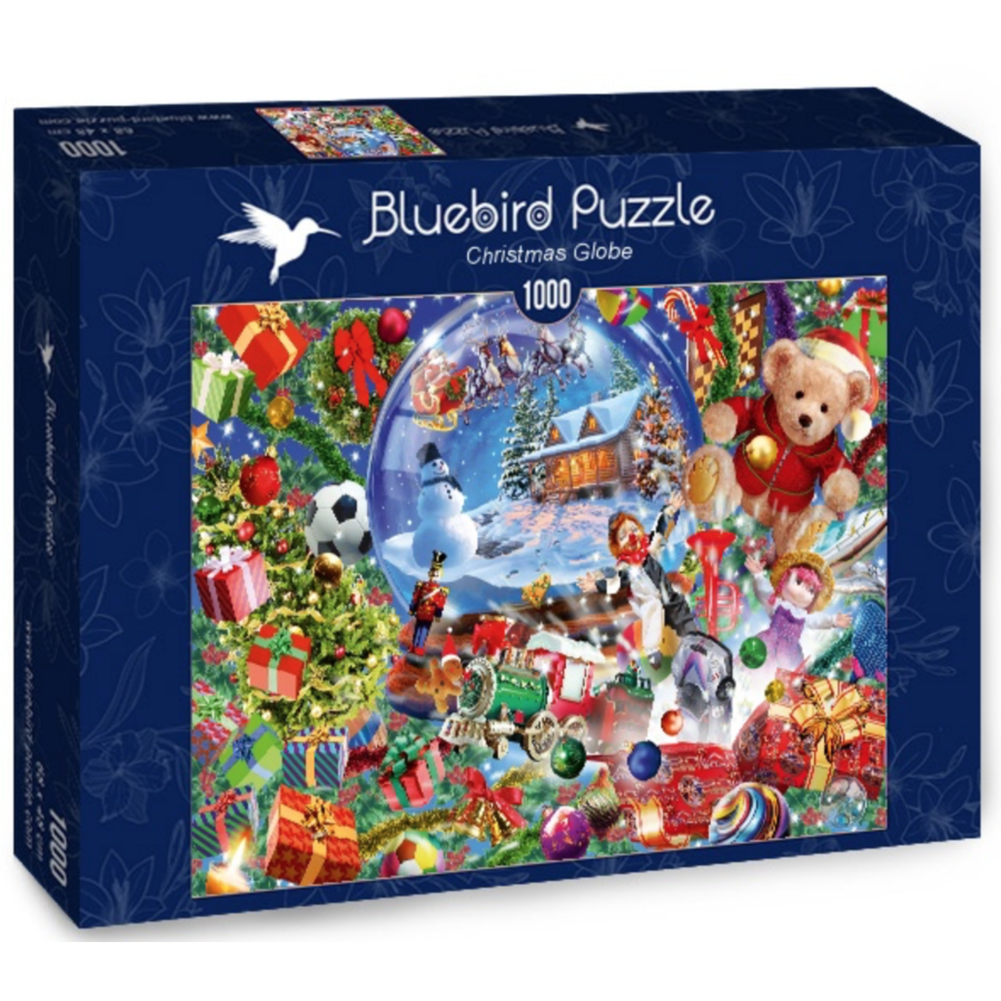 De sneeuwbol in kerstsfeer - puzzel van 1000 stukjes-2