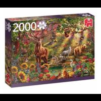 thumb-La forêt magique au coucher du soleil - puzzle de 2000 pièces-1