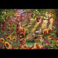 thumb-La forêt magique au coucher du soleil - puzzle de 2000 pièces-2