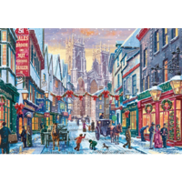 thumb-Kerst in York  - puzzel van 1000 stukjes-1