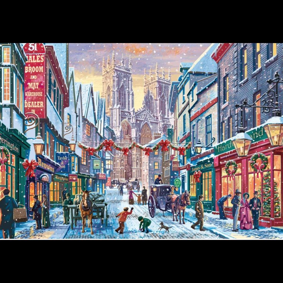 Kerst in York  - puzzel van 1000 stukjes-1