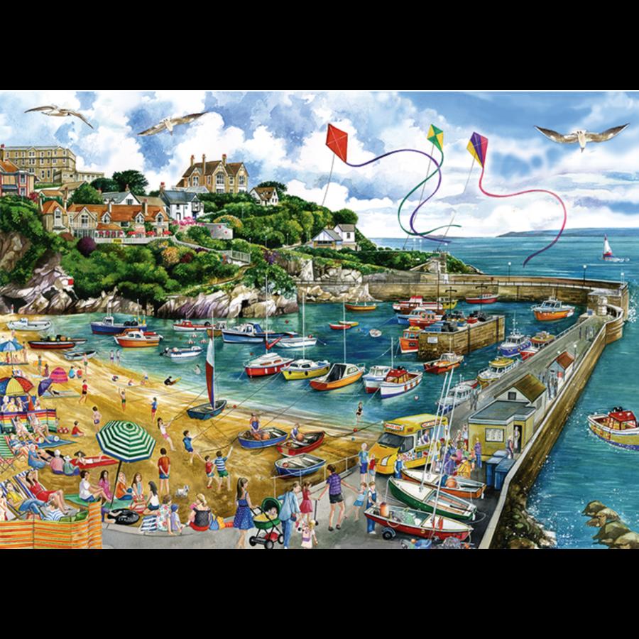 Haven van Newquay  - puzzel van 1000 stukjes-2