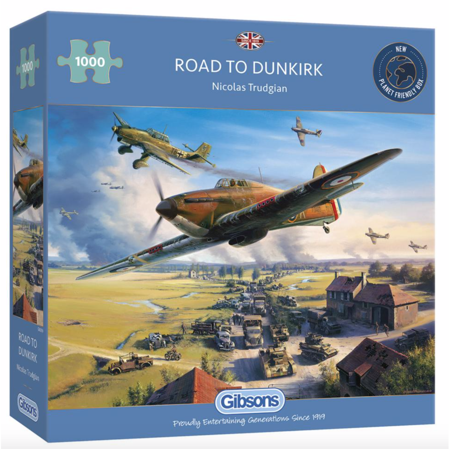 Road to Dunkirk - jigsaw puzzle of 1000 pieces-1