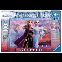 thumb-Disney Frozen - Glitter - puzzle de 100 pièces-1