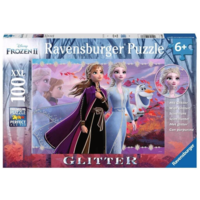 thumb-Disney Frozen - Glitter - puzzle of 100 pieces-1