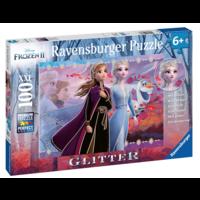 thumb-Disney Frozen - Glitter - puzzle de 100 pièces-2