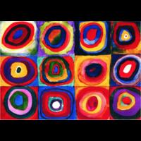 thumb-Kandinsky - Etude de couleurs - puzzle de 1000 pièces-2