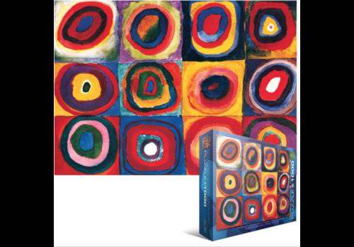 Eurographics Puzzles Kandinsky - Etude de couleurs - 1000 pièces