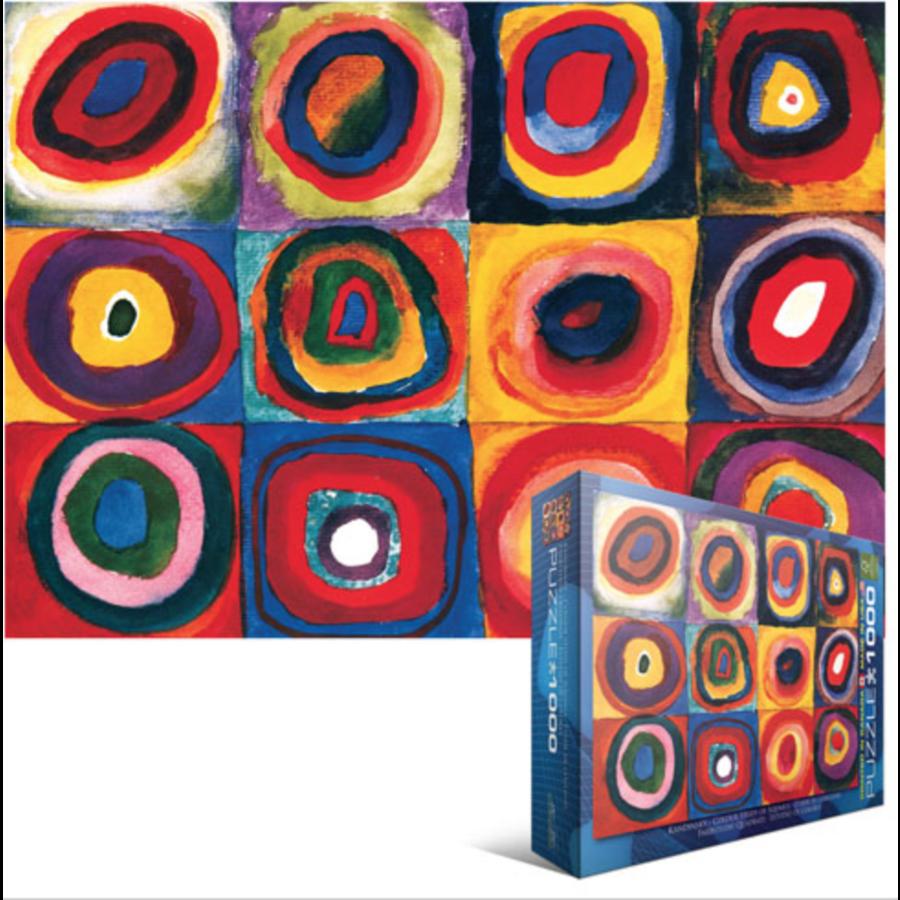 Kandinsky - Etude de couleurs - puzzle de 1000 pièces-1