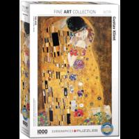 Klimt - De kus - puzzel van 1000 stukjes