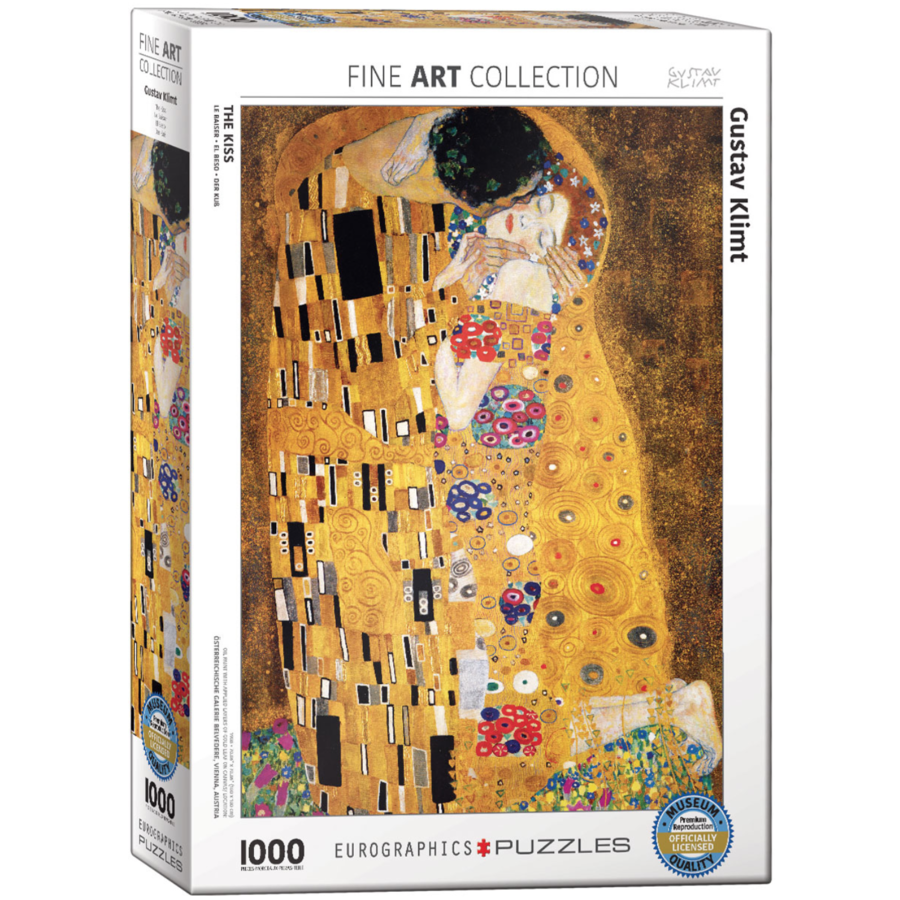 Klimt - De kus - puzzel van 1000 stukjes-1