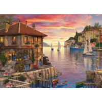 thumb-Port méditerranéen - puzzle de 1000 pièces-1