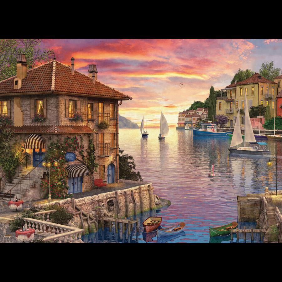 Port méditerranéen - puzzle de 1000 pièces-1