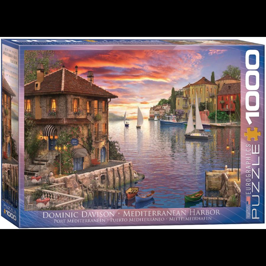 Port méditerranéen - puzzle de 1000 pièces-2